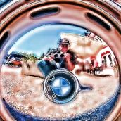 Hubcap Self Portrait