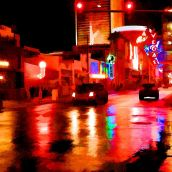 Wet Vegas Night