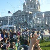 Creating Bubbles at City Hall Centennial