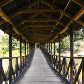 Covered wooden bridge I. Kolarovo