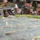 Surfing on stormy waves in Miniatur Wunderland, Hamburg, Germany