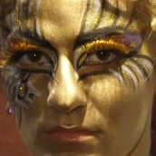 Bodypainting Golden lady