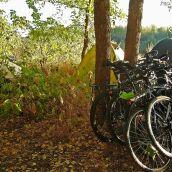 bike tourists on vacation