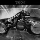 Tron Legacy - Deluxe Light Cycle with Sam Flynn Toy 3D