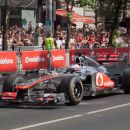 McLaren and Button in front, lots of Vodafone in the background :)