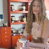 Pretty Girl With A Cup Of Coffee
