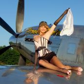 Warbird Pinup Girls shoot for the 2013 All Mustang Calendar