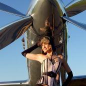 Warbird Pinup Girls shoot for the 2013 All Mustangs calendar