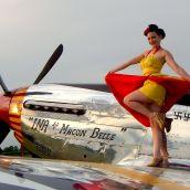 Warbird Pinup Girls Red Tail shoot