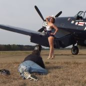 Shooting with Kelly for the Wabird Pinup Girls 2014 calendar