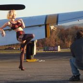 P-47 shoot with Tammy Jean