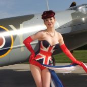2015 Warbird Pinup Girls calendar cover girl Angela