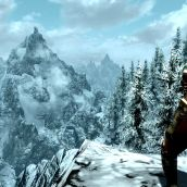 Southern Skyrim Mountain View