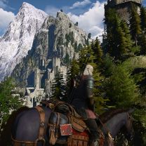 Kaer Morhen from near the old Watch Tower