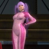 Ayane - Pink Lace Training + purple pigtails