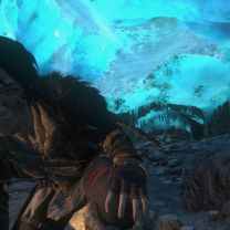 Crawling Through an Ice Cave