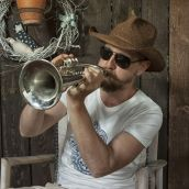 Man playing a trumpet