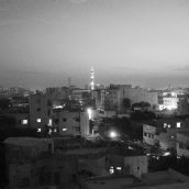 Panoramic View of the City at Dusk