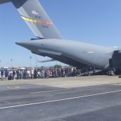 Inside a C-17 tour line