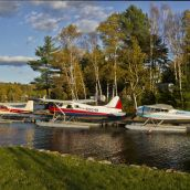 Float Plane on Lake