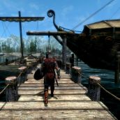 Skyrim Solitude Docks