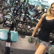 Katelyn at the gym