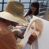 Portraiture Artist at Santa Monica Pier