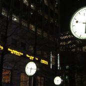 Clocks, Canary Wharf