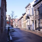 A street of Saint Agatha Berchem (Brussels)