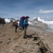 Glacier des Poilus From Whaleback Ridge
