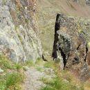 Sentiero - trincea per Torre dell'Albiolo