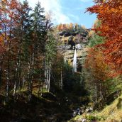 Waterfall in autumn colors