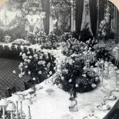 President Roosevelt's Dinner to Prince Henry, in the East Room, White House, Washington Circa 1902
