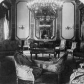 Ladies' Drawing Room in the Presidential Palace, Castle of Chapultepec, Mexico City Circa 1901