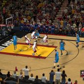 NBA 2K13 showing the awful shadows when not using the helixmod fix
