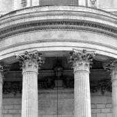 porch St-Paul's Cathedral 3D