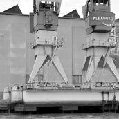 Cranes Harbour Rotterdam 3D