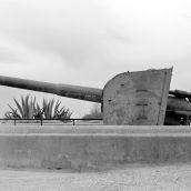 Gun Montjiuc castle Barcelona 3D