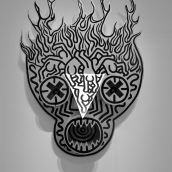 mask Keith Haring Kunsthal Rotterdam 3D