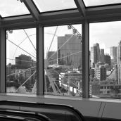 Reuzenrad view from Library Rotterdam