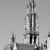 Tower Cathedral Antwerpen 3D