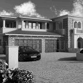 Luxurious Home Exterior Design Rendering
