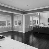 Modern 3D Interior Living room Design View