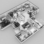 Modern Residential 3D Floor Plan Design
