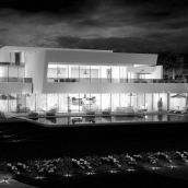 3D Exterior Night View Pool Design