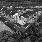 3D Residential Architectural Exterior Aerial View