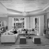 Style Trends For Modern Residential 3D Interior Designers Living Room