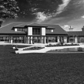 High quality Dream House Architectural Rendering Service Back View