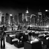 Roof top Design Ideas Evening Scene by architectural rendering service Chicago, USA