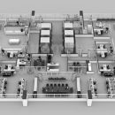 Details of 3d floor plan services of the Sets for The Office in San Francisco, USA